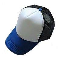 Plain Mesh Ball Cap (BLUE WHITE BLACK) #21204