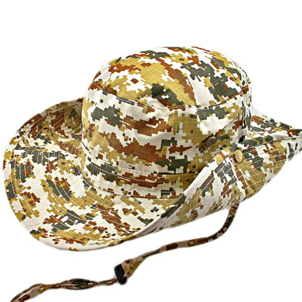Light Brown and Green Digit Camo Camping Hiking Boonie Hat #51752