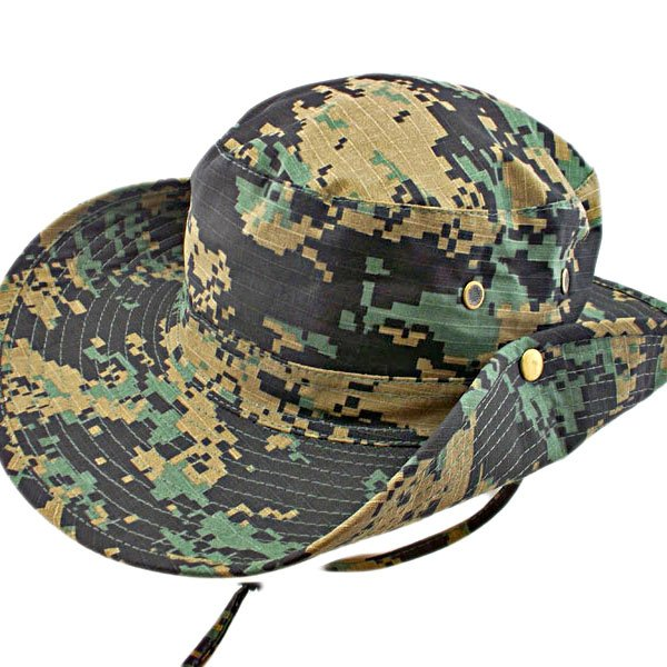 Black & Green Digit Camo Camping Hiking Boonie Hat #51755