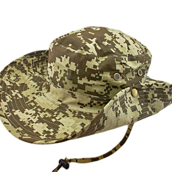 Dark Brown Digit Camo Camping Hiking Boonie Hat #51756