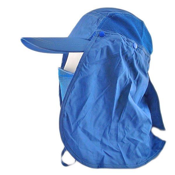 Long Neck Flap /w Face Mask Mesh Cap Hat Fishing Hiking (ROYAL BLUE) #51765
