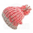 Warm Thick Top Pom Slouchy Wooly Beanie Hat w/ Jacquard Pattern (PINK) #51829