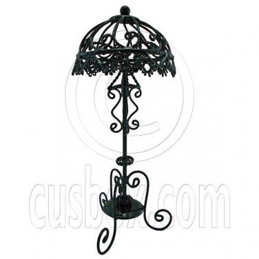 Black Victoria Wire Floor Lamp Light Decor 1:12 Doll's House Dollhouse Miniature #12619