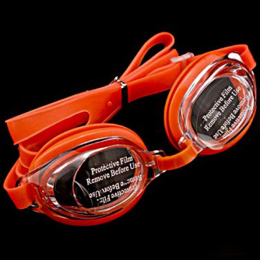 Swimming Kids Goggles with Bag ORANGE #50359