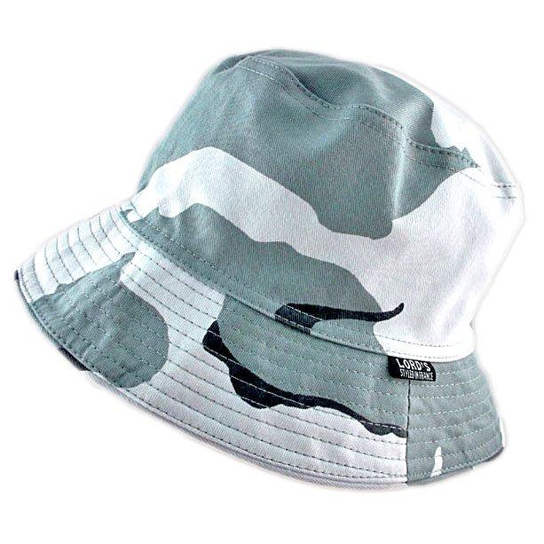 Reversible Outdoor Plain Bucket Hat (Light Gray Desert Camo / Khaki) #51889