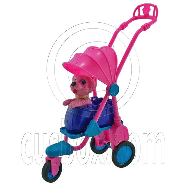 Pet Dog Stroller Carrier Pram Car 1/6 Barbie Doll's House Dollhouse Miniature #12691