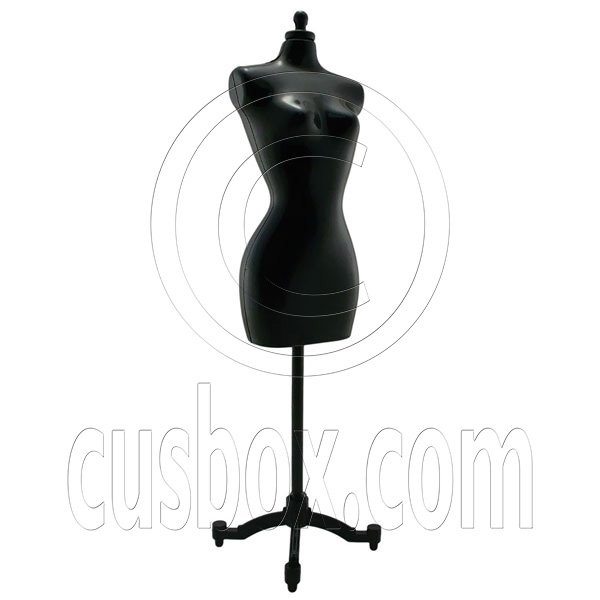 Black Dress Form Clothes Stand 1/6 Barbie Scale Doll's House Dollhouse Miniature #12704
