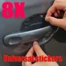 8x Car Door Wrist Handles Scratches Protective Film Vinyl Stickers Universal NEW #12844
