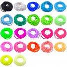 22 pcs Colorful Silicone Elastic Bracelet Black Pink Blue Green Fluorescent #51863
