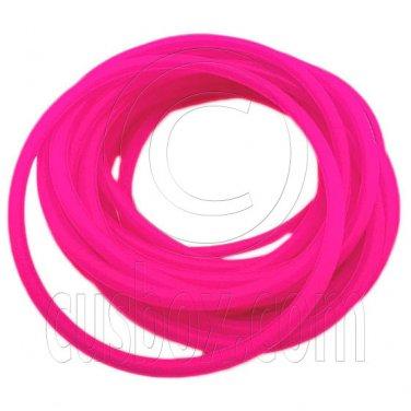 5 pcs Colorful Silicone Elastic Bracelet (Hot Pink) #51877