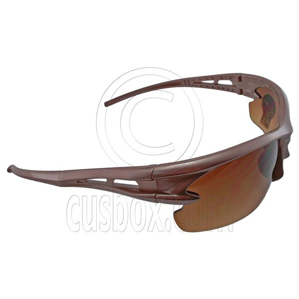 Brown Lens Professional Polarized Driving Cycling Mens Glasses Sports Sunglasses #12893