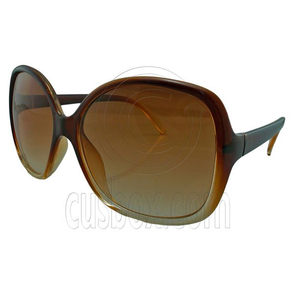 Brown Women's Girl Oversized Large Vintage Shades Polarized Designer Sunglasses #12905