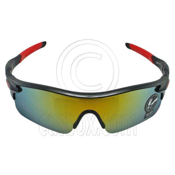 Professional Polarized Biking Cycling Running Golf Sport Wrap Around Sunglasses #12916