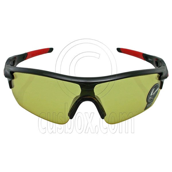 Professional Yellow Polarized Night Driving Cycling Running Low Light Glasses #12917
