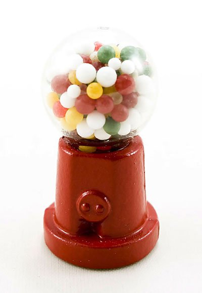 Red Metal Glass Food Candy Machine Dollhouse Miniature #10270
