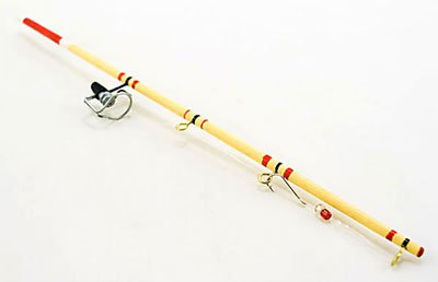Sports Fishing Pole Rod w Hook Reel Dollhouse Miniature #10272