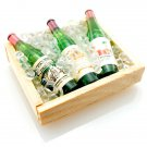 Iced Champagne Wood Box Container Dollhouse Miniature #10349