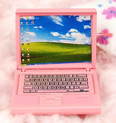 Pink Lady Netbook Laptop Notebook Dollhouse Miniature #10374