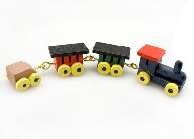 Wood Steam Train Coach Trucks Toy Dollhouse Miniature #10637