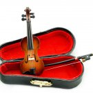 Musical Instrument Violin w Bow Box Dollhouse Miniature #10722