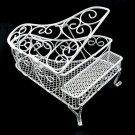White Wire Modern Piano Dollhouse Furniture Miniature #10747
