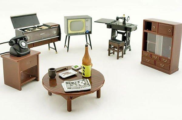 Vintage Japanese Japan w Magnet 1:25 Dollhouse Furniture Set #10845