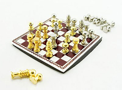 International Western Chess Game Dollhouse Miniature #10861