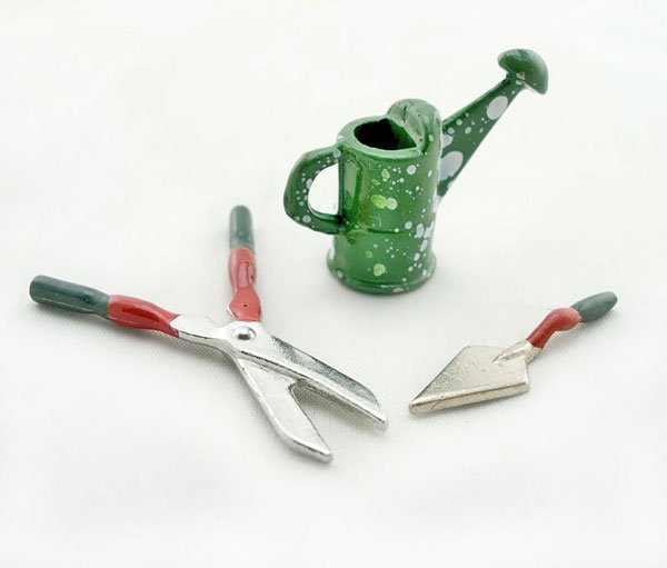Garden Plant Planting Tool Kit Dollhouse Miniature Set #10864