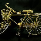 Vintage Gold Wire Bicycle Bike Rare Dollhouse Miniature #10907