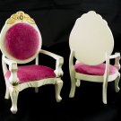 Set of 2 Victorian Floral Arm Chair Dollhouse Furniture #10982