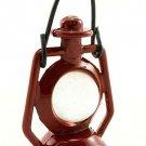 Vintage Antique Red Metal Oil Lamp Dollhouse Miniature #11132