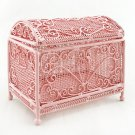 Pink Filigree Deluxe Jewellery Box Dollhouse Miniature #11175