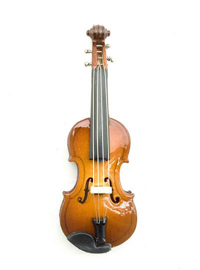 Acoustic Classical Violin Musical Dollhouse Miniature #11181