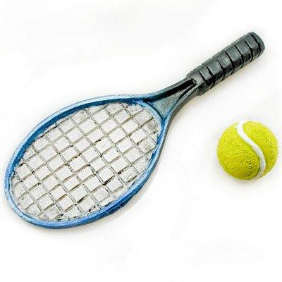 Tennis Racket w Ball Sports Game Dollhouse Miniature #11258