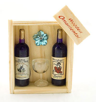 Box Set 2 Champagne Cup Wine Rare Dollhouse Miniature #11398
