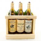 Box Set 6 Champagne Bottle Wine New Dollhouse Miniature #11399