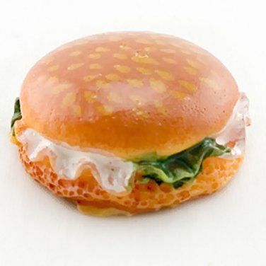 Cheese Hamburger Fast Food Burger Dollhouse Miniature #11401