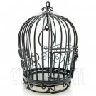 Black Wire Birdcage Bird Cage with Door Dollhouse Miniature #11605