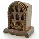 Vintage Walnut Wood Radio Dollhouse Miniature #11609