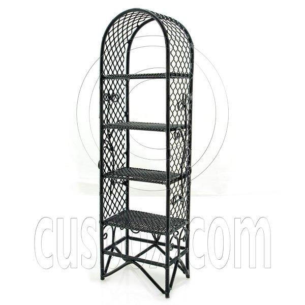 Black Garden Flower Plant Stand Dollhouse Furniture #11702