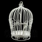 White Wire Birdcage Bird's Cage New Dollhouse Miniature #11706