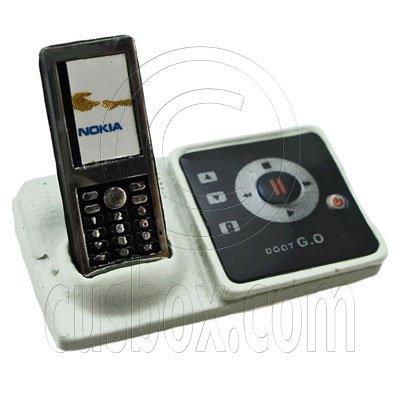 Black Wireless Home DECT Phone 1:12 Dollhouse Miniature #11820