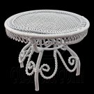 White Wire Queen Ann Round Cafe Tea Table 1:12 Doll's House Dollhouse Furniture #12125
