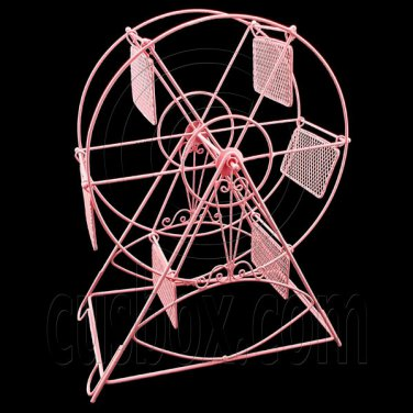 Pink Wire Observation Ferris Big Wheel Jewelry Display Necklace Pendant Holder #12130