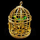 Gold Wire Birdcage Bird Cage with Bird 1:12 Doll's House Dollhouse Miniature #12283