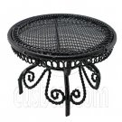 Black Wire Queen Ann Round Cafe Tea Table 1:12 Doll's House Dollhouse Furniture #12287