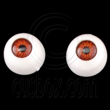 Red Brown Pair Doll Eyes Ball Half Round Acrylic Dolls Eye 10mm for BJD Dollfie #12750