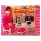 Living Room Hi-Fi TV Sofa Cabinet Furniture Set 1/6 for Barbie Monster High MIB #12795