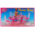 Dining Room 6 Chairs Table Furniture Play Set 1/6 for Barbie Monster High MIB #12796