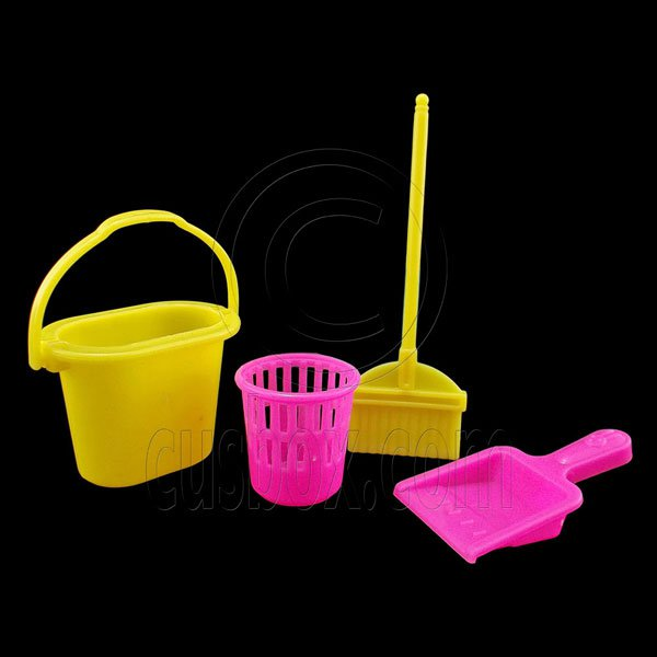 Living Room Cleaning Tool Set for Barbie Blythe Doll's House Dollhouse Miniature #12839